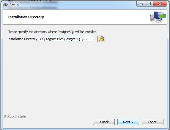 Setup Directory For Postgres