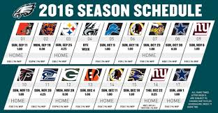 2016 Eagles' Schedule