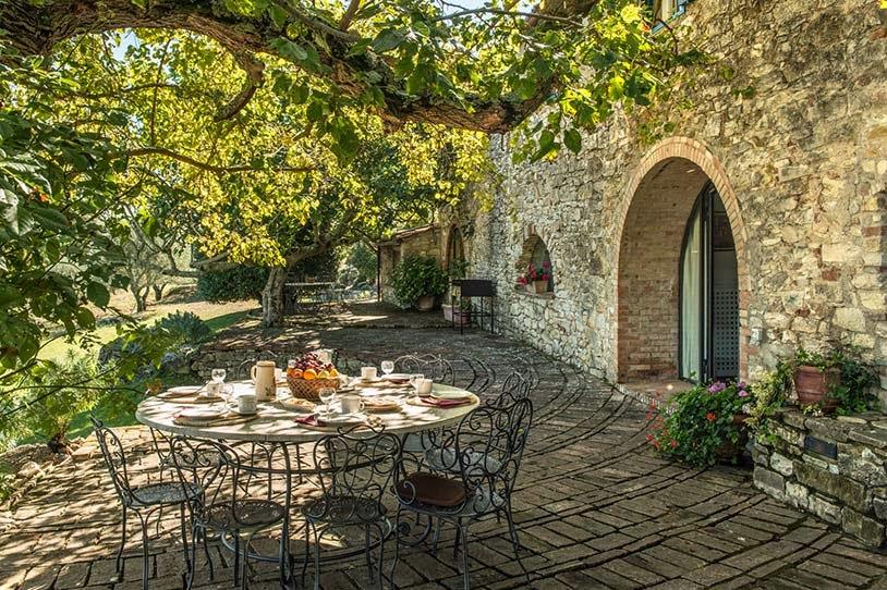 Estilo rustico casa rustica de piedra en chianti for Jardin casa rustica