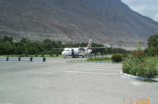 PIA ATR at Gilgit Airport