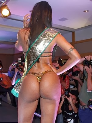 Brazilian big butt in g-string