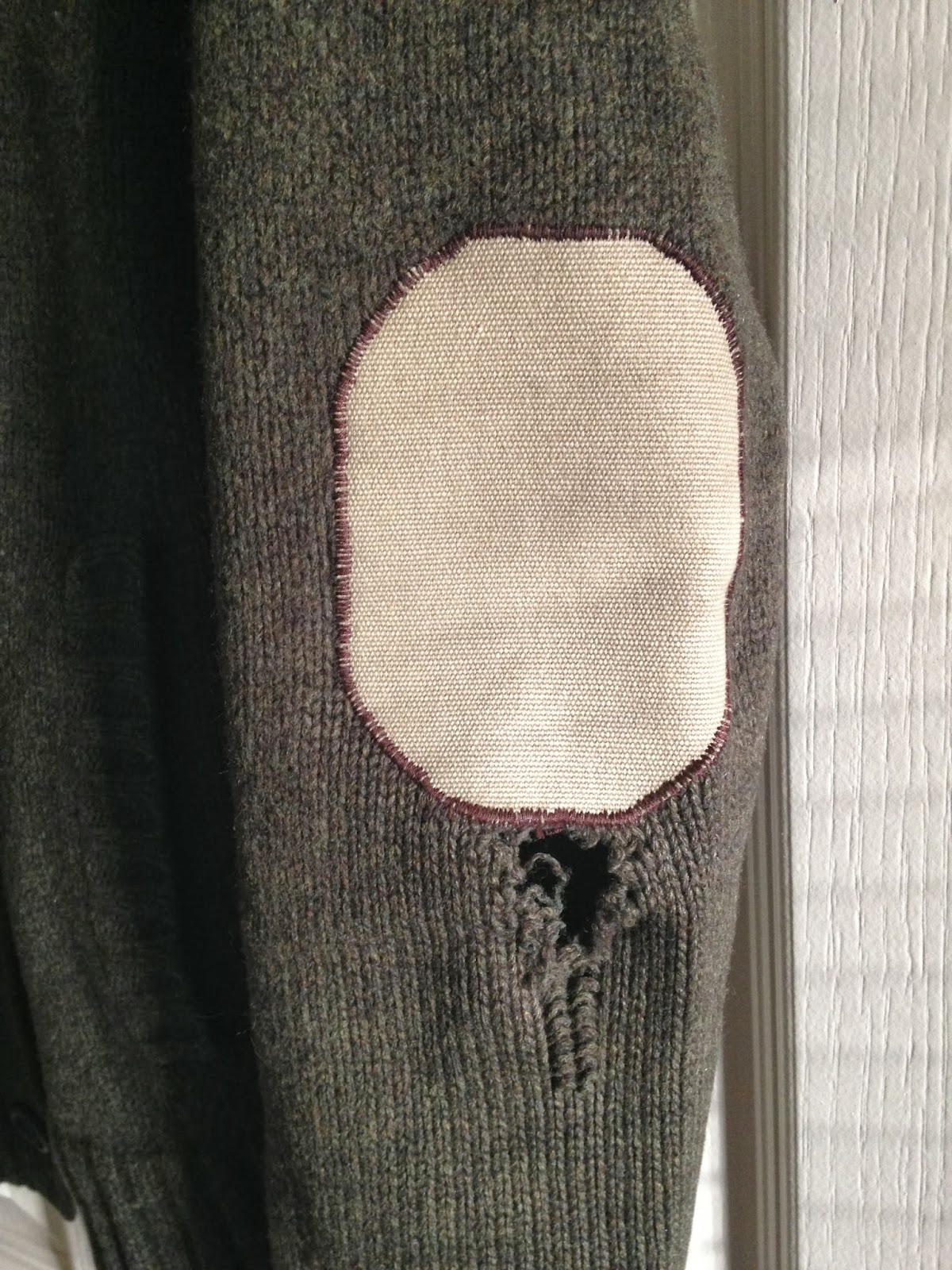 Ulterior Alterations Wool Sweater to Vest Refashion Before Detail