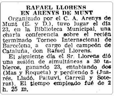 30 simultáneas a cargo de Rafael Lloréns, recorte Mundo Deportivo