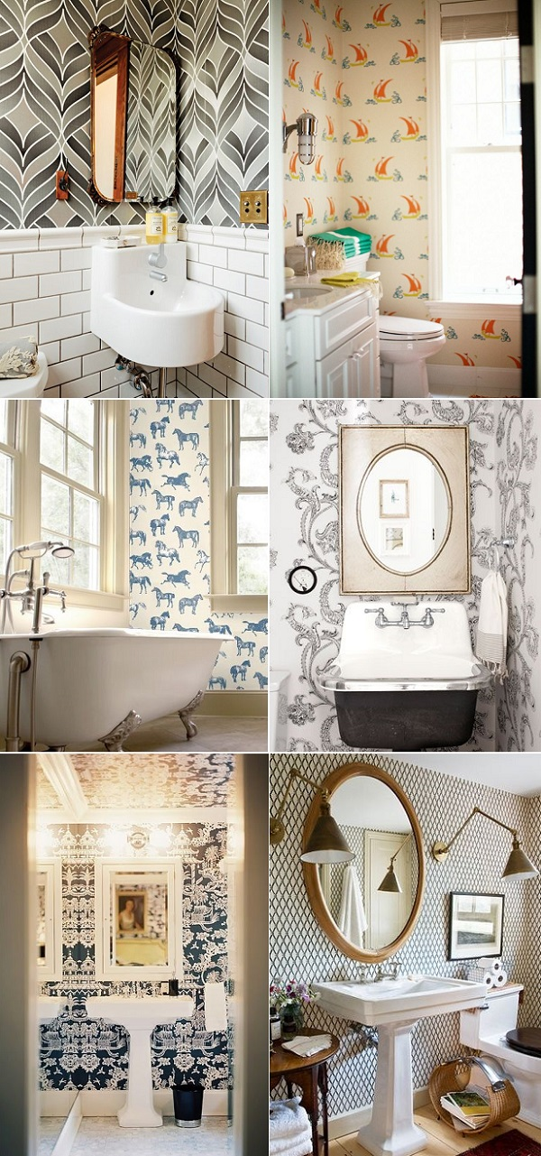 Would You Have Funky Wallpaper In Your Bathroom I Don T Know If It S The Spring Craving Or That Everyone Seems To Cool Their