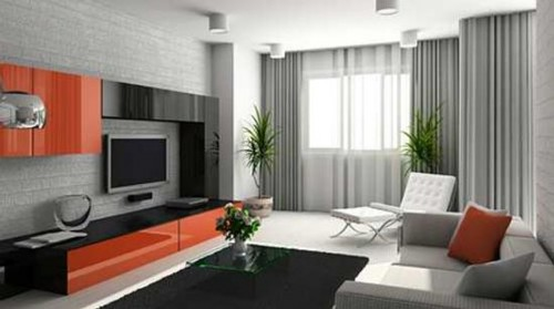 Accented Neutral Living Room