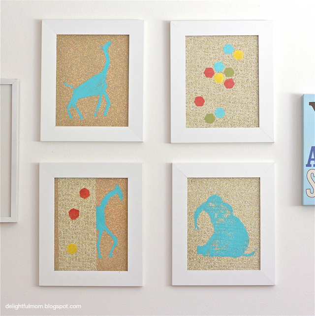 DIY Glittery Animal Print Wall Art