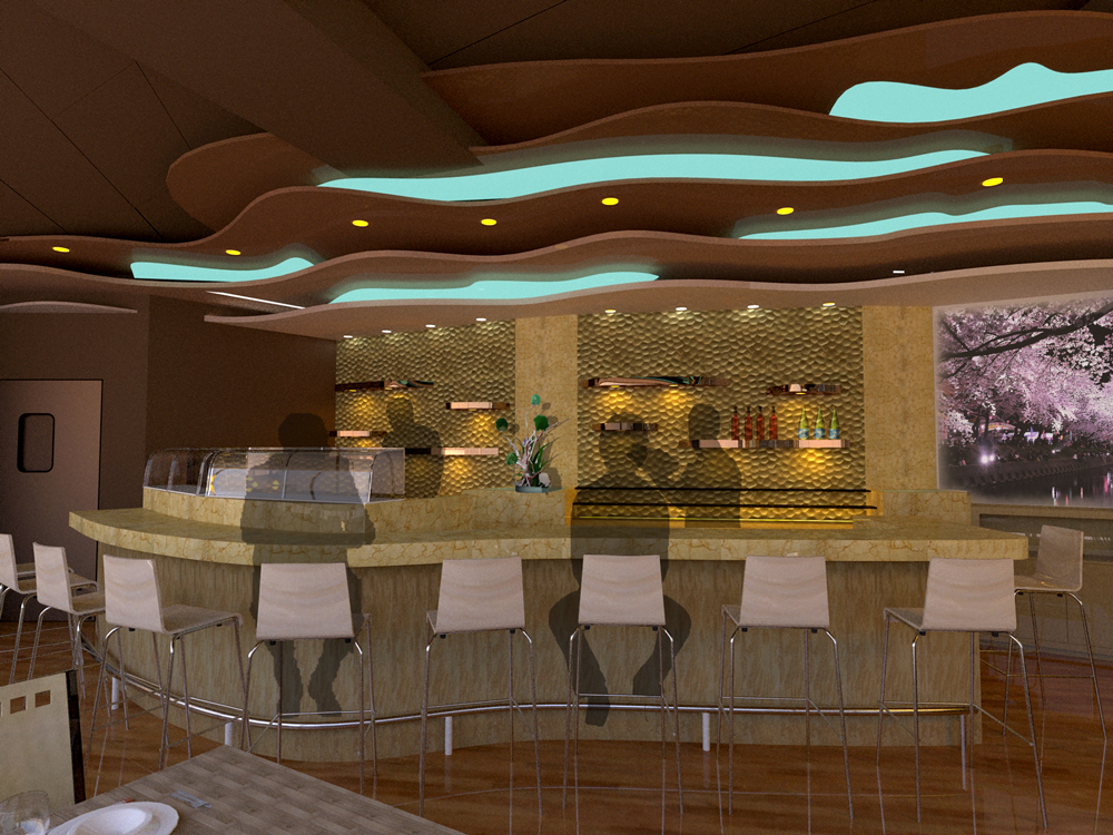 Sushi Bar At Marina City Professional Project 2008 Design Proposal Architecture Interior