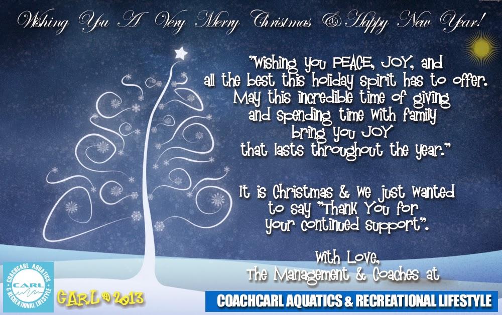 Coachcarl aquatics recreational lifestyle seasons greeting seasons greeting happy new year m4hsunfo