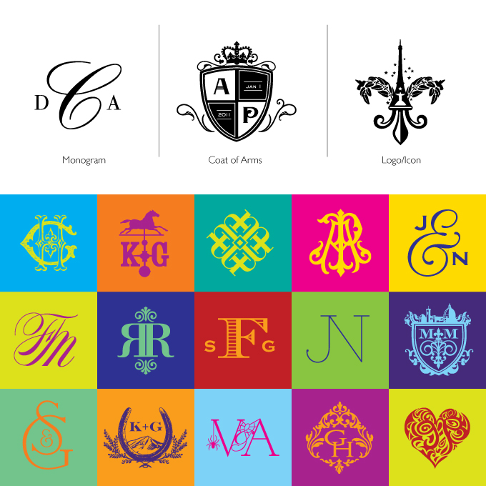 Monograms Crests And Logos Whats The Difference Atelier Isabey