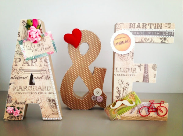 Tutorial letras gigantes bodas - Letras grandes decoradas ...