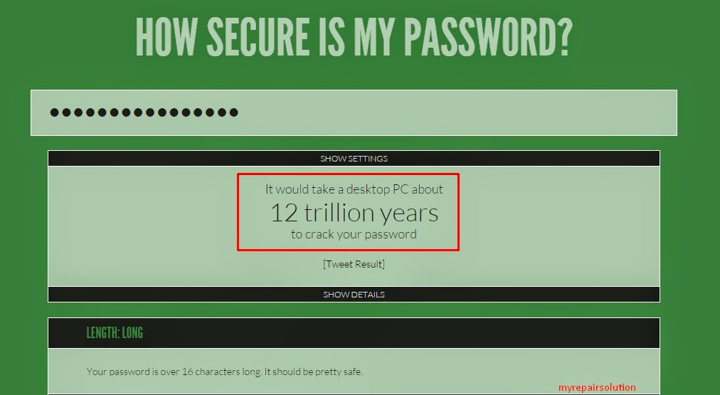 how secure is my password ?