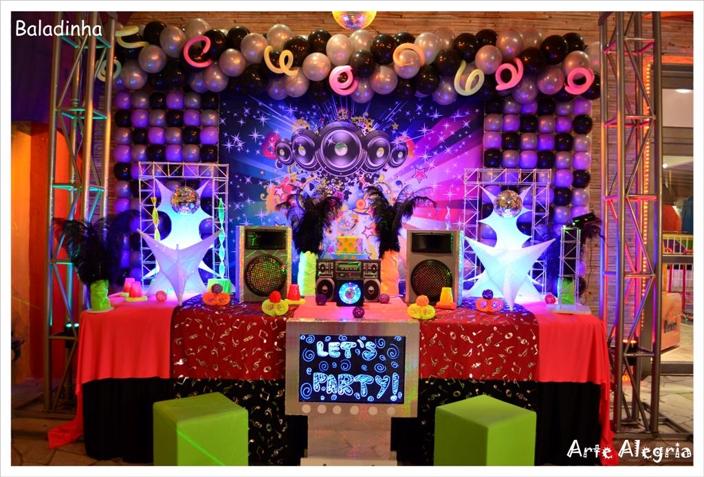 decoracao festa glow:Festa Tema De Neon