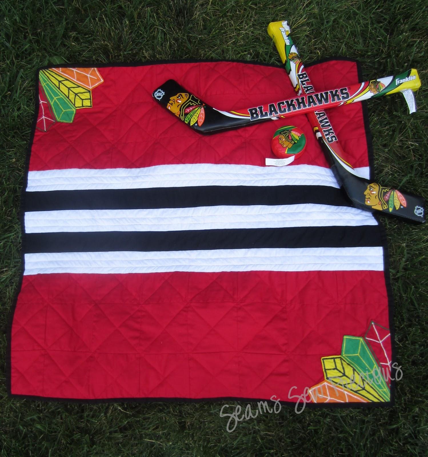 Seams Sew Precious: Hockey Themed Baby Quilt