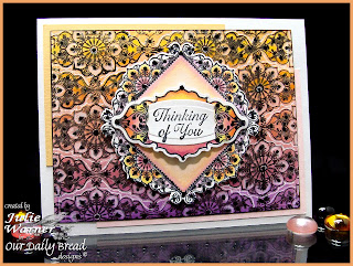 Stamps - Our Daily Bread Designs Ornate Background, Ornate Borders Sentiments, ODBD Custom Ornate Borders & Flower Die