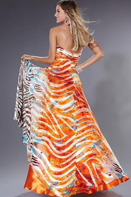 orange-zebra-prom-dress-2011-back