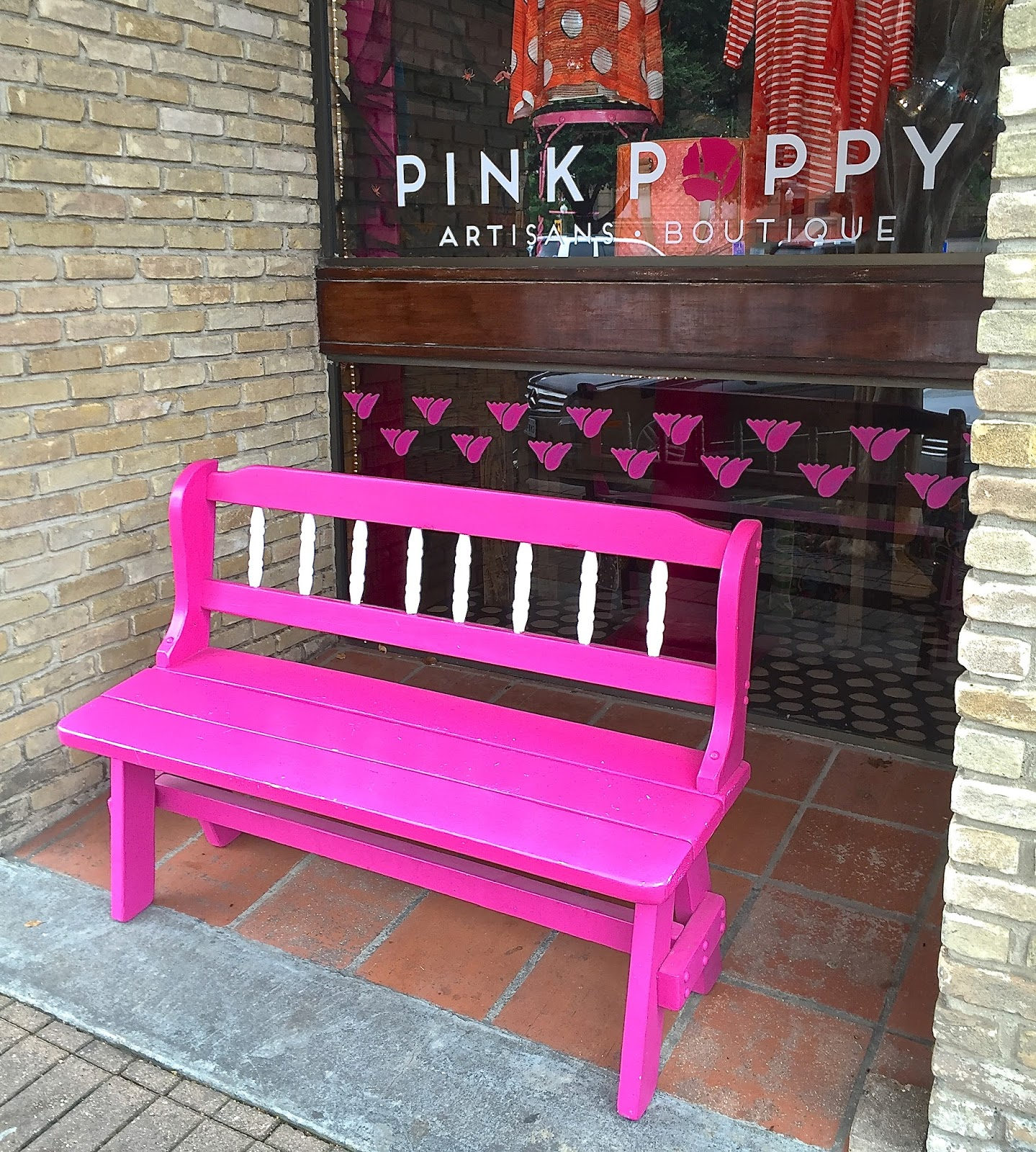 Tallahassee Daily Photo Pink Bench