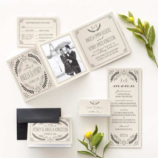 BlocNotes Vintage w/ weddingpaperdivas