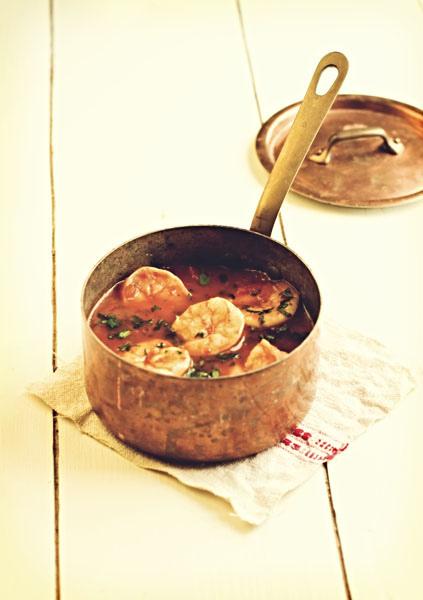 Zuppetta di Gamberi al Pomodoro