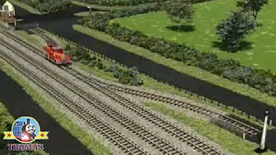 Train signal box house fire truck Flynn stopped adjacent to a small quiet railway track Y junction