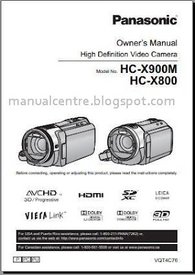 Panasonic HC-X900M Manual