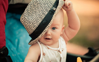 Cute Little Baby Boy With Hat HD Wallpaper