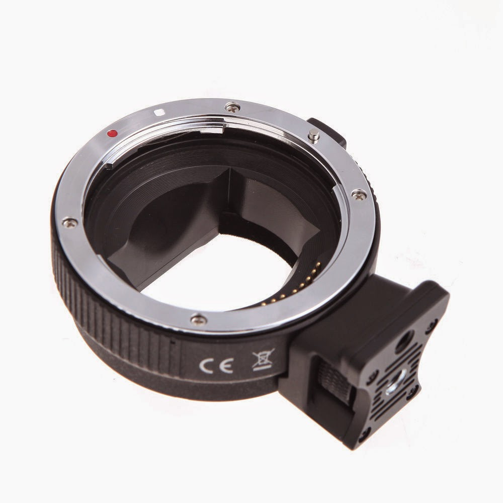 Commlite ComTrig AF Mount Adapter EF-NEX fr Canon Lens to Sony+IS Exact Exposure