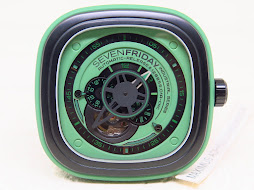 SEVEN FRIDAY GREEN EDITION SF P1-05 GREEN INDUSTRIAL ESSENSE SKELETON DIAL - AKA SF HULK- AUTOMATIC