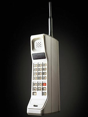 motorola 8600. martin cooper of motorola made the first publicized handheld mobile phone call on a prototype dynatac model april 4, 1973. this is reenactment in 2007. 8600