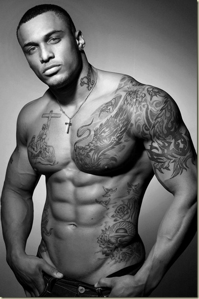 chest tattoos for men black and white photos