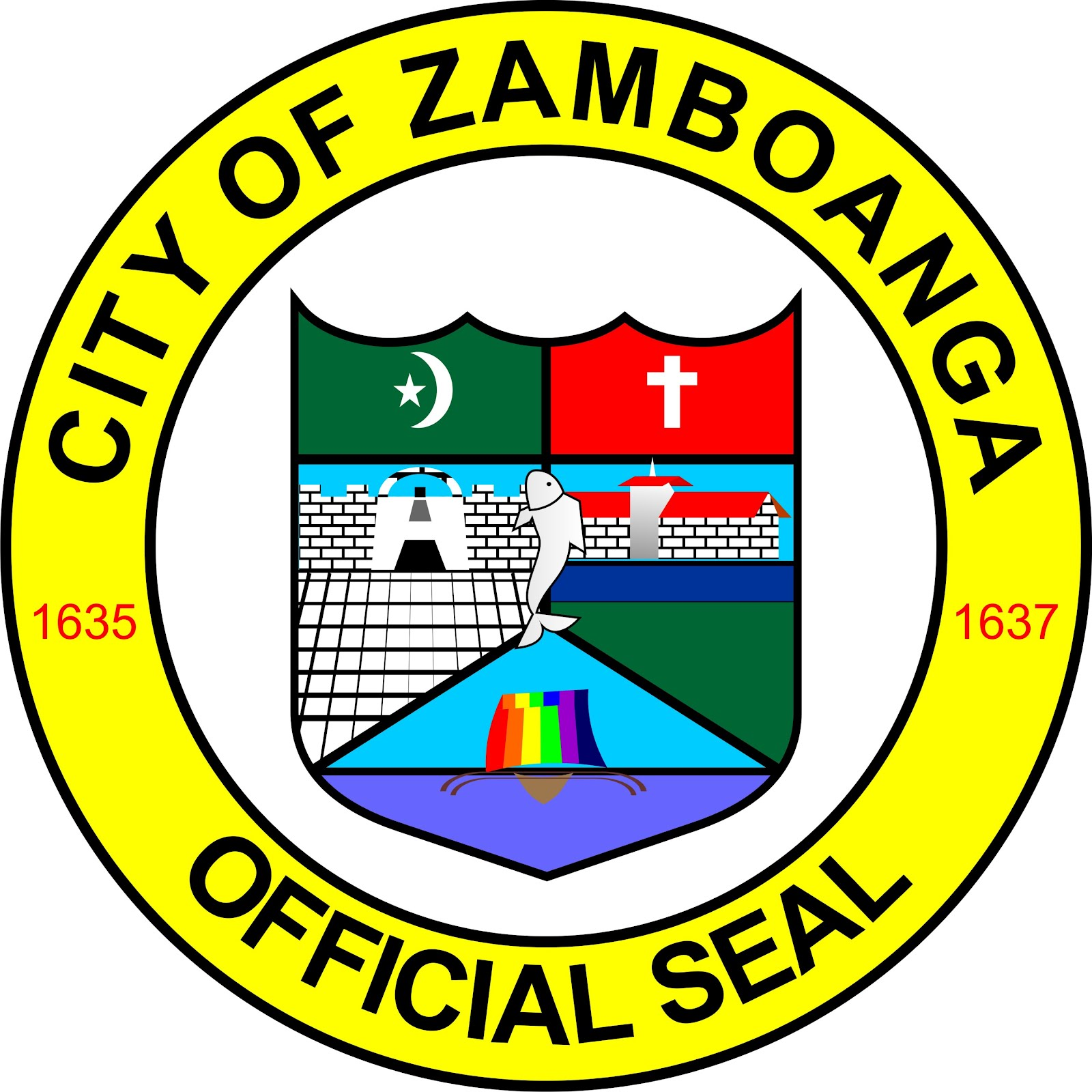 Logo prate mark print works for Bureau zamboanga