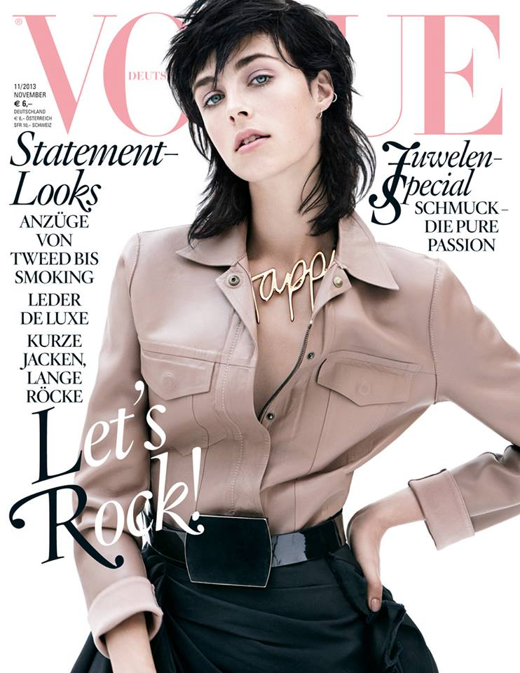 Edie Campbell in Lanvin by Alber Elbaz in Vogue Germany November 2013