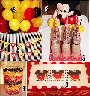 Detalles de fiesta de Mickey