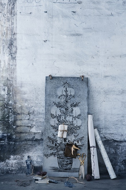 My scandinavian home christmas decorating with zinc for Decoration zinc