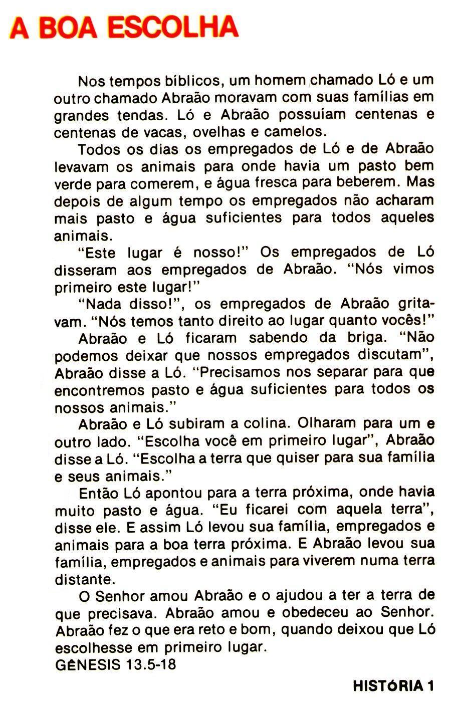 Suficiente Escola Dominical Infantil: Abraão e Ló se separam: História, plano  JL03