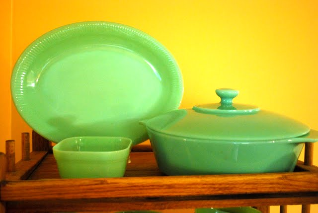 Promotional items made by Fire King Jadeite were also used as service station movie theater and department store giveaways.\  : jadeite dinnerware - pezcame.com