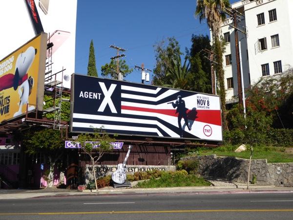 Agent X series premiere billboard