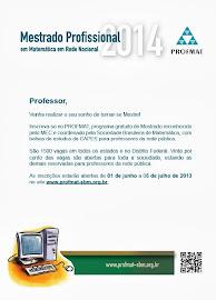Mestrado Matemática _PROFMAT
