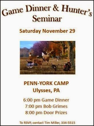 11-29 Game Dinner & Hunter's Seminar