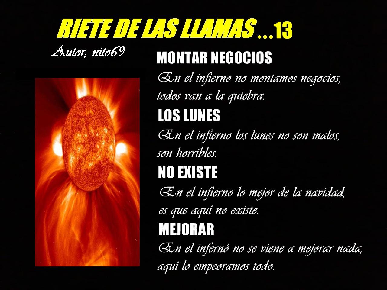 RIETE DE LAS LLAMAS...13