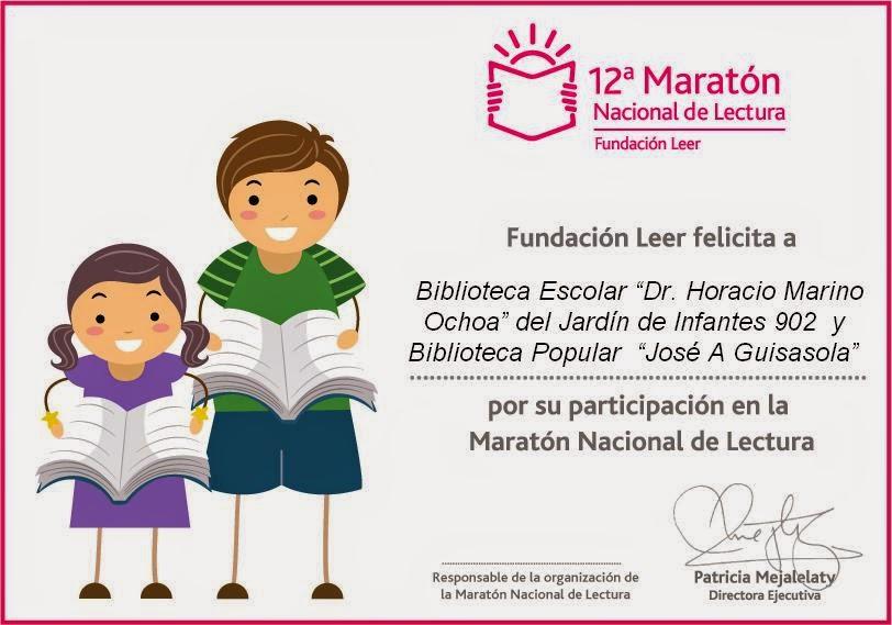 Diploma12ª Maratón Nacional de Lectura