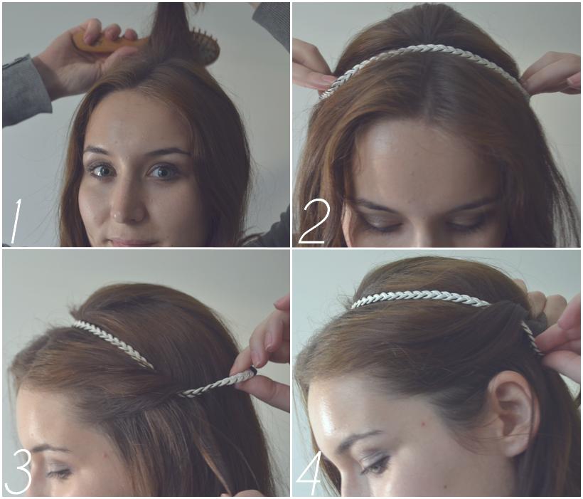 tutoriel headband 3 coiffures simples et qui tiennent. Black Bedroom Furniture Sets. Home Design Ideas
