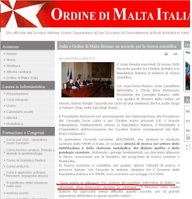 Silvio Berlusconi, el Vaticano y la Orden Constantina Malta