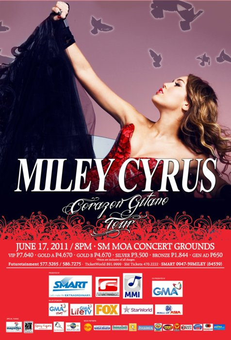 Gypsy Heart Tour Miley Cyrus Live in SM MOA Concert Grounds,Miley Cyrus Live in Manila Ticket Prices, poster, image, picture, photo, billboard, pics