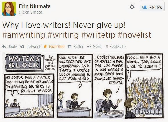 @ecniumata Why I love writers. They never give up. includes a comic about writers submitting to editors