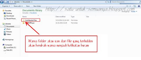 cara menyembunyikan file pada windows 7-3