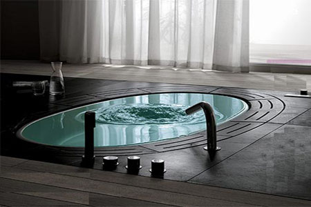 Современная ванна Sorgente