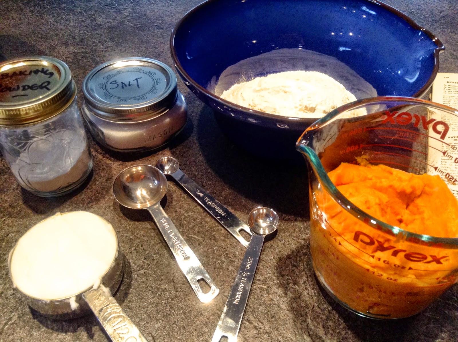 Sweetpotato biscuits ingredients