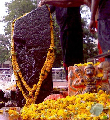 Picture of Lord Shanidev idol at Shani Shingnapur Temple