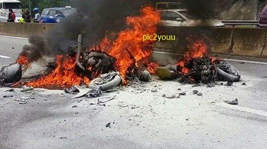 5 gambar Dua penunggang motosikal berkuasa tinggi maut selepas terbabit dalam kemalangan di Kilometer 25 Lebuhraya Karak