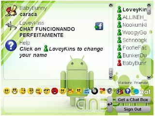 Chat em funcionamento \o/
